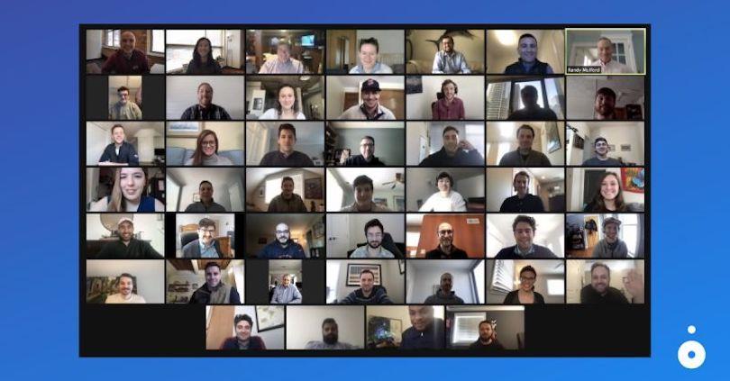 photo de l'équipe d'investissement halo sur zoom