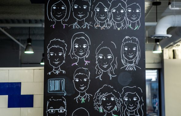Drawings of employees at Buildout